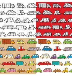 Cars seamless vector