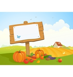 Harvest signboard vector image