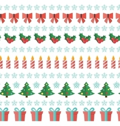 Abstract Christmas and New Year Seamles Pattern vector image