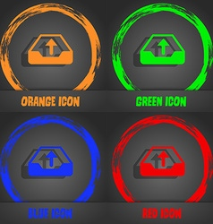 Backup icon fashionable modern style in the orange vector