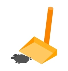 Scoop with garbage isometric 3d icon vector