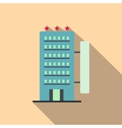 Hotel building flat icon vector