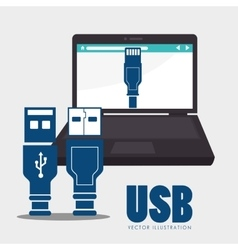 Usb technology connection vector