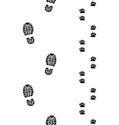 Shoes and paws vector