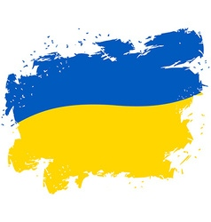 Ukraine flag grunge style on white background vector
