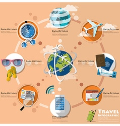 Travel and journey business infographic vector