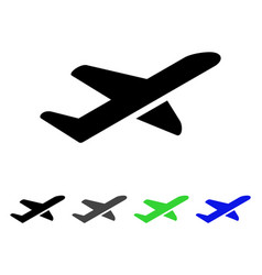 airplane takeoff flat icon vector image