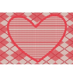 Background with application in shape of heart vector image vector image