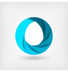 Blue abstract symbol of water logo template vector