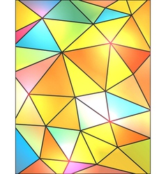 Bright Stained Glass Abstract Background vector image vector image