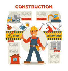 builder gesturing thumbs up vector image vector image