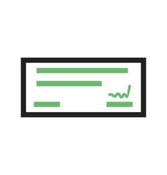 Cheque vector image