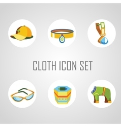 Cloth icon set for man and his dog vector