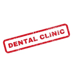 Dental clinic text rubber stamp vector