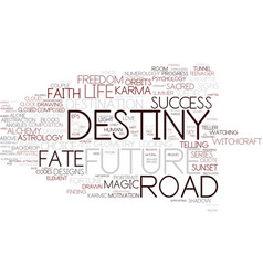 Destiny word cloud concept vector