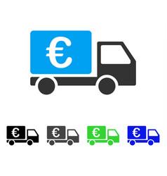 euro collector car flat icon vector image