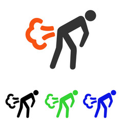 Fart flat icon vector