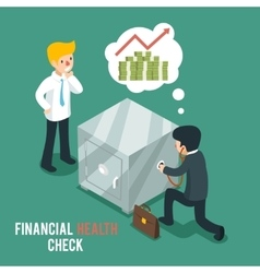 Financial health check isometric 3d vector