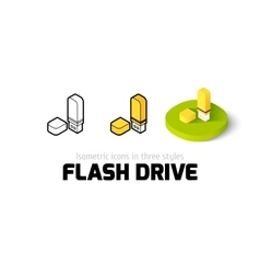 Flash drive icon in different style vector