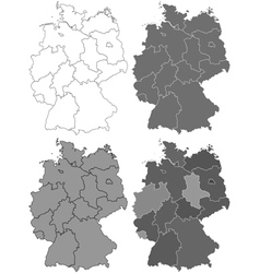 Germany map set vector