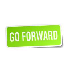 Go forward square sticker on white vector