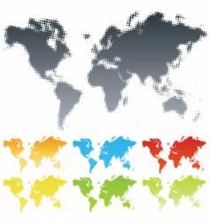 halftone world vector image vector image