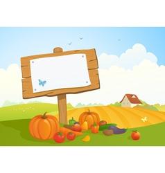 Harvest signboard vector image vector image