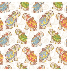 Indian elephant seamless pattern vector image