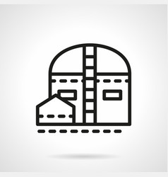 Industrial storage simple line icon vector