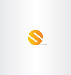 letter s circle orange logo sign vector image vector image