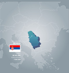 Serbia information map vector