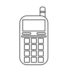 Smartphone telephone technology line vector