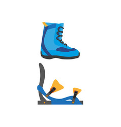 snowboarding boots bindings isolated vector image