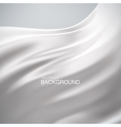 White milky silk fabric vector