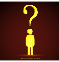 Question mark concept vector image
