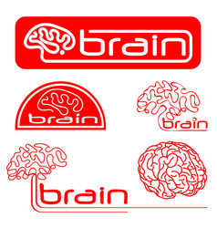logotypes of brain vector image