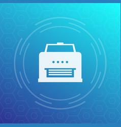 Printer icon pictogram vector
