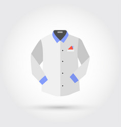 Shirt with long sleeves vector