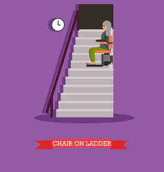 stair lift for the elderly in vector image