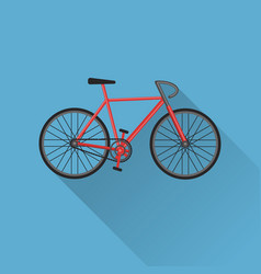 Flat style bicycle icon vector
