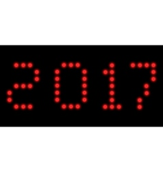 2017 led clock digits vector image vector image