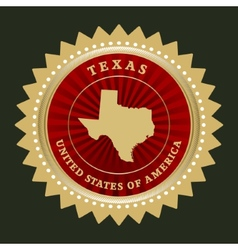 Star label texas vector