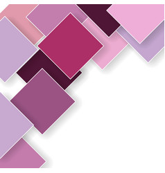 Pink orchid rhombus shadow background vector