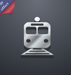 Train icon symbol 3d style trendy modern design vector