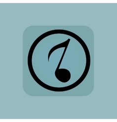 Pale blue 8th note sign vector