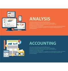 Flat style business analysis infographic concept vector