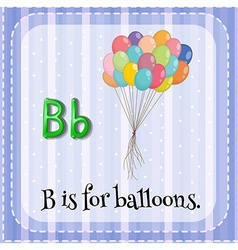Flashcard of letter b vector