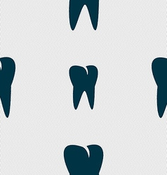 Tooth icon seamless abstract background with vector