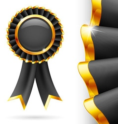 Black award ribbon vector
