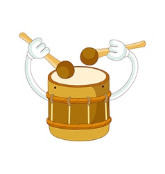 A playing drum vector image